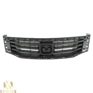 Black Front Grille Assembly Replacement For 08 10 Honda Accord 4 Door Sedan