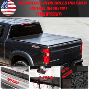 For 2009 18 2019 Dodge Ram 5 7ft Bed Hard Trifold Cover Solid Fold Tonneau Cover