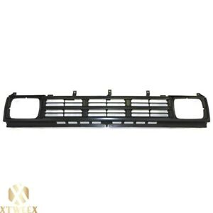 Black Front Grille W Insert Assembly For 90 92 Nissan D21 Hardbody Pickup Truck