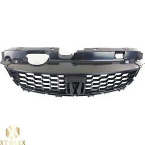 Matte Black Front Grille Grill For 04 05 Honda Civic 2 Door Coupe New Parts