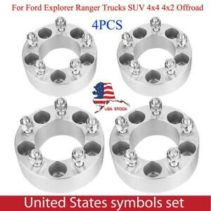 4pcs 2 Thick Hub Centric Wheel Spacers For Ford Explorer Ranger Trucks Suv