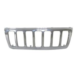 Chrome Front Grille Grill Shell Trim For 99 03 Jeep Grand Cherokee Limited New