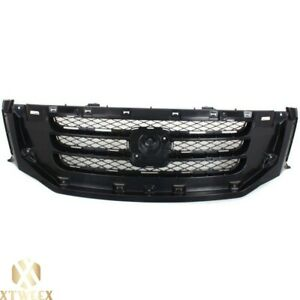 Matte Black Front Grille Grill W O Molding For 08 10 Honda Odyssey Van New Parts