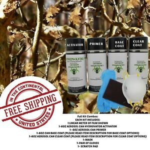 Hydrdographic Water Transfer Hydro Dip Full Kit Activator 1m Tree Camo 9 Film