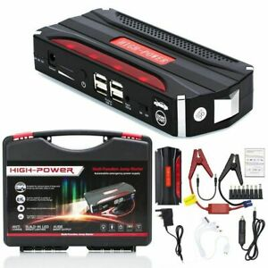 Heavy Duty 600a Usb Jump Starter Battery Pack Car Power Bank Charger Booster