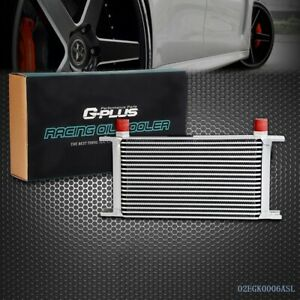 Gplus Universal 19 Row 10an Aluminum Engine Transmission Oil Cooler Silver