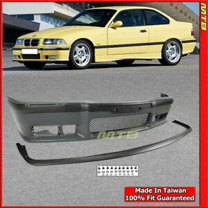 Front Lip M3 Style Bumper Cover Kit For Bmw 3 Series 92 98 E36 Trim Moulding
