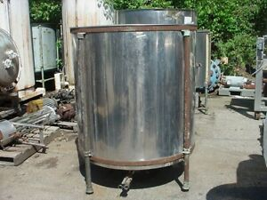 330 Gallon Stainless Steel Tank Dished Bottom Open Top