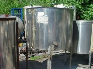 250 Gallon Stainless Steel Tank Slant Bottom Open Top