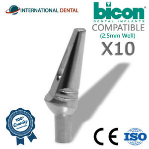 10 Bicon Compatible 15 Non shouldered Abutment 2 5mm Well Dental Implant