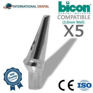5 Bicon Compatible 15 Non shouldered Abutment 3 0mm Well Dental Implant