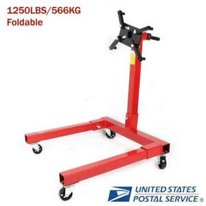 1250lbs Foldable Engine Overturn Stand Hoist 360 Degree Maintenance Support Us