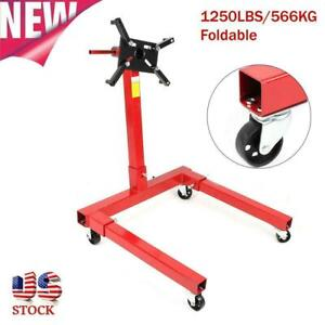 360degree 1250lbs 566kg Foldable Engine Overturn Stand Hoist Maintenance Support