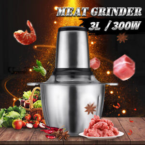 3l Electric Meat Grinder 300w Industrial Sausage Maker Home Kitchen Food Mincer