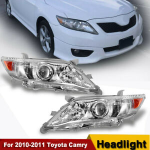 Fit Toyota 2010 2011 Headlights Pair Set Camry Us Version Replacement Projector