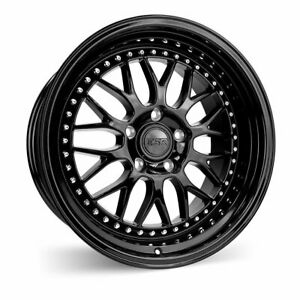 Esr Sr01 18x8 5 30 18x9 5 35 5x114 3 Gloss Black Staggered Set Of 4