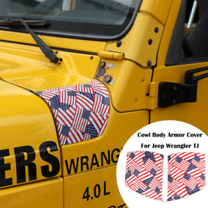 Pair Cowl Body Armor Cover Exterior Accessories For Jeep Wrangler Tj 1997 2006