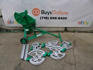 Greenlee 1818 Mechanical Bender 1 2 2 Emt Imc Rigid 5 Shoes 2 Follow Bars 9 2