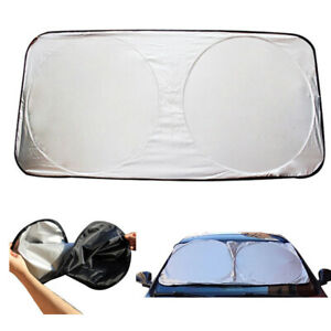 Us Car Sun Shade Cover Visor Uv Block Front Rear Windshield Window Foldable