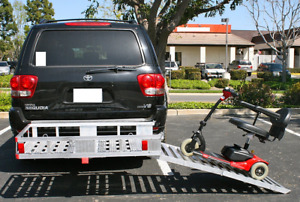Cargo Carrier Folding Ramp Aluminum 60 Inch Hitch Mount Car Vehicle Transport