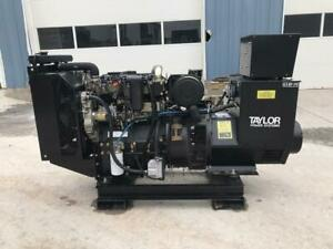 __80 Kw Taylor Generator Set Skid Mounted Year 2005 405 Hours 1 Phase