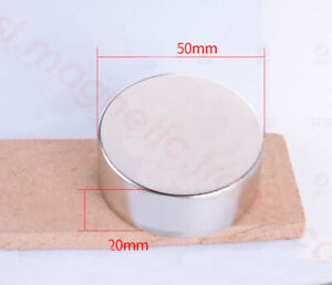 N50 Disc Dia 50mm X Thick 20mm Strong Round Neodymium Permanent Magnets