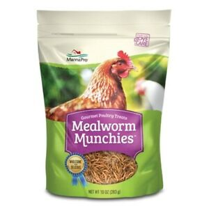 Manna Pro Mealworm Munchies Poultry Treat 10oz