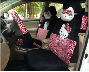 18 Pcs Hello Kitty Car Seat Cover Cute Interior Styling Accessories Choose Color
