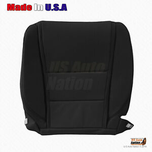 Fits 2012 2013 2014 Acura Tl Driver Bottom Perforated Leather Seat Cover Black