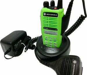 Motorola Ht1250 Uhf Police Fire Ems Commercial Radio 403 470 Mhz Quik Call Ii 4w