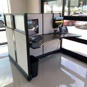 Four Wall Panel Cubicle Office Desk Workstation Excellent