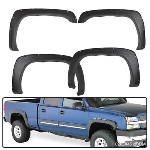 For Chevy Silverado Gmc Sierra Pocket Style Bolt On Fender Flare 99 06 Textured