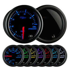 Glowshift 52mm Tinted 7 Color 0 To 7 Bar Oil Pressure Gauge