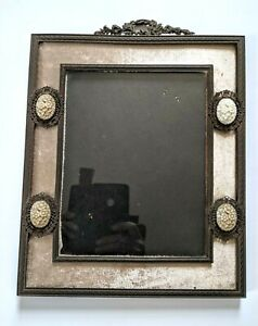 Victorian Bohemian Garnet Small Heart Bow Picture Frame