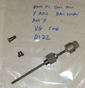 Emco F1 Cnc Mill Y Axis Ball Screw Ballscrew Assemby 0122