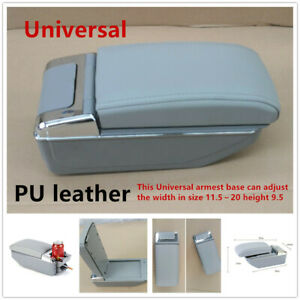 universal Usb Rechargeable Style Car Central Container Armrest Storage Leather
