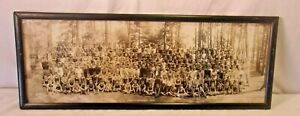 Antique Panoramic Frame With Photo 11 1 4 X 30 Holds 10x29 Molding 3 4