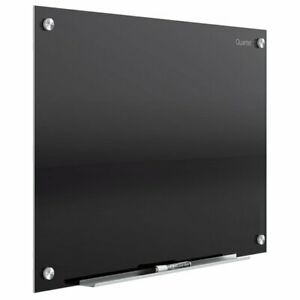 Quartet Quartet Infinity Glass Magnetic Dry erase Board 24 X 18 Black Surface
