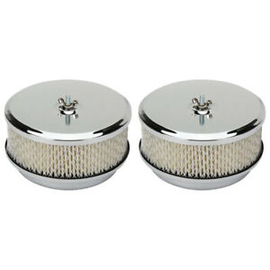 Chrome Air Cleaner 2 Barrel Carb 6 3 8 Inch 2 Pack