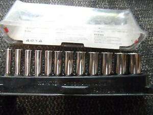 Snap On 112stmmy 12pc 1 4 Drive 6 Point Metric Flank Drive Deep Socket Set
