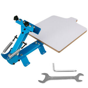 1 Color 1 Station Silk Screen Printing Machine Press Equipment T shirt Diy