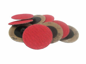 3 Quick Change Roll On Ceramic Type R Sanding Discs 24 Grit 25 Pack