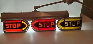3 Vintage Guide R t5a Turn Signals Stop Brake Light Fire Truck Bus Glass Lenses