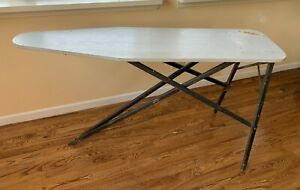Antique Vintage Ironing Board Primitive Folding Wood Metal
