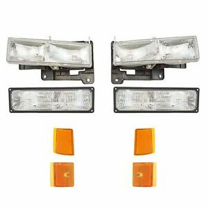 For Gmc Truck 1994 1995 1996 1997 1998 Headlight Parking Marker Right Left 8x