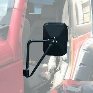 Side Mirrors Doorless Rear View Quick Release Mirrors For Jeep Wrangler Tj Jk Jl