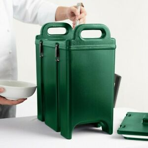 Cambro 350lcd519 Camtainer 3 375 Gal Green Insulated Soup Carrier Free Shipping