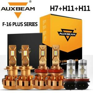 Auxbeam H7 h11 Led Headlight Decoder Canbus h11 H8 Fog For Ford Fusion 2006 2018