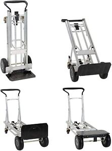 Moving Equipment Hand Truck Dolly Furniture Cart 1000lb Appliance 2 4 Wheel 3in1