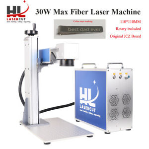 Ce fda 30w Fiber Laser Marking Machine Laser Engraver For Metal Rotary Included